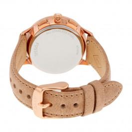 Fossil cinturino dell'orologio CH3016 Pelle Bianco crema / Beige 16mm + cuciture di default