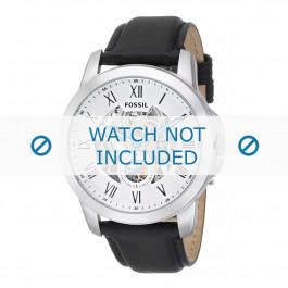 Cinturino per orologio Fossil ME3053 Pelle Nero 22mm