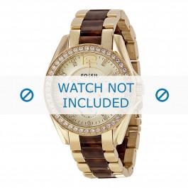 Cinturino per orologio Fossil ES3343 Acciaio Multicolore 18mm