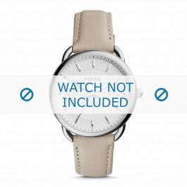 Fossil cinturino dell'orologio ES3806 Pelle Beige 16mm + cuciture di default