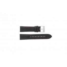 Fossil cinturino dell'orologio FS4672 Pelle Nero 22mm + cuciture di default