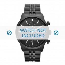 Fossil cinturino dell'orologio FS4787 Metallo Nero 24mm