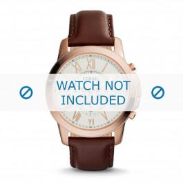 Cinturino per orologio Fossil FS4991 Pelle Marrone 22mm