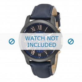 Cinturino per orologio Fossil FS5061 Pelle Blu 22mm