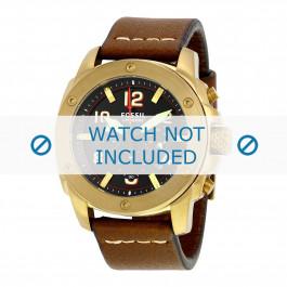 Fossil cinturino dell'orologio FS5065 Pelle Marrone 24mm + cuciture marrone