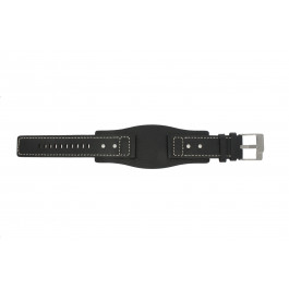 Cinturino per orologio Fossil JR9991 Pelle Nero 24mm
