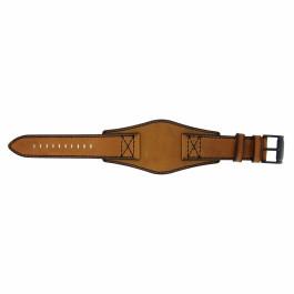 Fossil cinturino dell'orologio FS4616 Pelle Cognac 22mm + cuciture nero