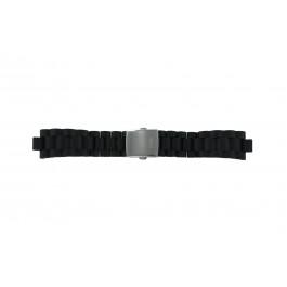 Guess cinturino dell'orologio I15056L1 / I11040L1 / I11005G2  Gomma / plastica Nero 22mm