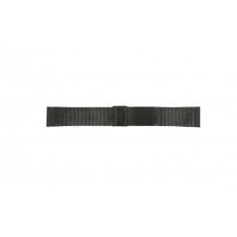Cinturino per orologio Davis BB0812 Acciaio Nero 20mm