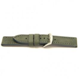 Cinturino orologio in vera pelle, grigio, 24mm I814