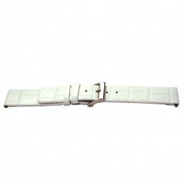 Cinturino per orologio Universale I520 Pelle di coccodrillo Bianco 24mm
