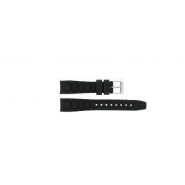 Garonne cinturino dell'orologio KQ13Q419 Gomma / plastica Nero 15mm