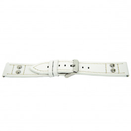 Cinturino per orologio Universale H525 Pelle Bianco 22mm
