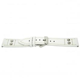 Cinturino per orologio Universale I525 / K-469 Pelle Bianco 24mm