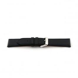 Cinturino per orologio Universale H010-XL Pelle Nero 22mm