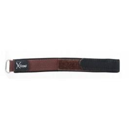 Cinturino per orologio Condor KLITTENBAND 412R Velcro Marrone scuro 20mm