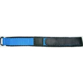 Cinturino per orologio Condor KLITTENBAND 412R Licht Blauw Velcro Blu 20mm