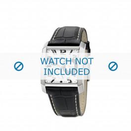 Cinturino per orologio Lotus 15411-2 / 15411-4 / 15411-A Pelle Nero 28mm