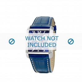 Lotus cinturino dell'orologio 15411.3 Pelle Blu + cuciture bianco