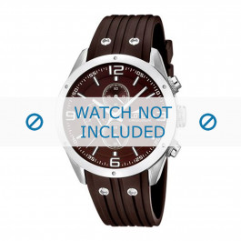 Lotus style cinturino dell'orologio 15969-3 Gomma / plastica Marrone 23mm