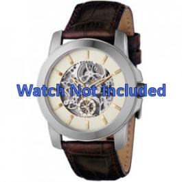 Cinturino per orologio Fossil ME1026 Pelle Marrone 22mm