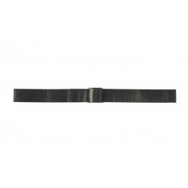 Cinturino per orologio Universale 18.1.5-ST-ZW Milanese Nero 18mm