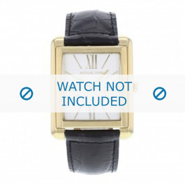 Cinturino per orologio Michael Kors MK2240 Pelle Nero 24mm