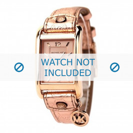 Cinturino per orologio Michael Kors MK2248 Pelle Vino rosé 18mm