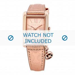 Michael Kors cinturino dell'orologio MK2254 Pelle Salito 18mm + cuciture di default