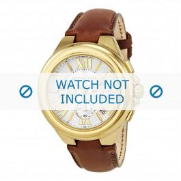 Michael Kors cinturino dell'orologio MK2266 Pelle Marrone chiaro 22mm + cuciture marrone