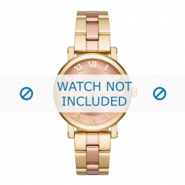 Michael Kors cinturino dell'orologio MK3586 Metallo Oro 18mm