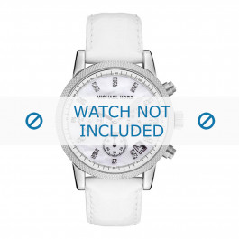 Cinturino per orologio Michael Kors MK5049 Pelle Bianco 20mm