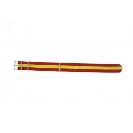 Cinturino orologio Tessut 20mm Rosso / Giallo /  EX WG38