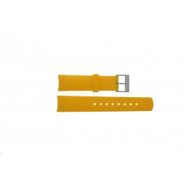 Cinturino per orologio Nautica 31507G Gomma Giallo 22mm