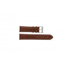 Cinturino per orologio Nautica A29507G / N22505G Pelle Marrone 22mm