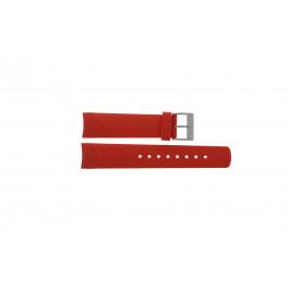 Cinturino per orologio Nautica A18639G / A09902 / A37508G / N19524 Gomma Rosso 22mm