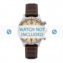 Nautica cinturino dell'orologio A15537G Pelle Marrone 22mm + cuciture bianco