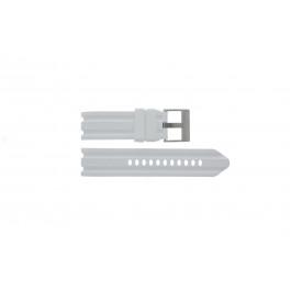 Cinturino per orologio Nautica A15567G Gomma Bianco 24mm