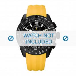 Cinturino per orologio Nautica A18599G Gomma Giallo 24mm