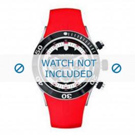 Nautica cinturino dell'orologio A34002G Gomma / plastica Rosso