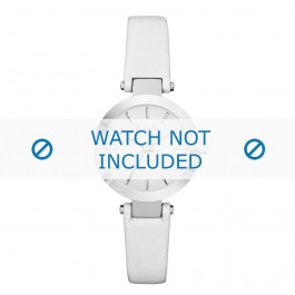 Cinturino per orologio DKNY NY2403 Pelle Bianco 8mm