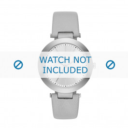 Cinturino per orologio DKNY NY2460 Pelle Grigio 10mm