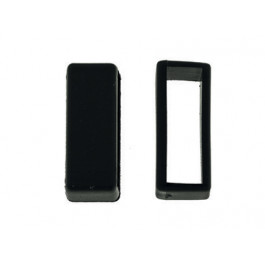 Cinturino per orologio Passante/Keeper in gomma nero 16mm