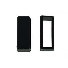 Cinturino per orologio Passante/Keeper in gomma nero 22mm