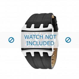 Police cinturino dell'orologio 13420js/02A Cuoio morbido Nero