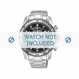 Seiko cinturino dell'orologio SNAE61P1 / 7T62-0KV0 02B / 7D48-0AK0 / M0ND111J0 Metallo Argento 21mm
