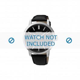 Seiko cinturino dell'orologio SRPA27K1 / 4R35 00Z0 Pelle Nero 20mm + cuciture di default