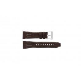 Seiko cinturino dell'orologio 5D44-0AE0 / SRH011P1 Pelle Marrone 26mm + cuciture bianco