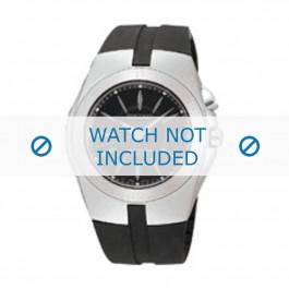 Seiko cinturino dell'orologio 5M62-0AL / SKA203J2 Gomma Nero 16mm