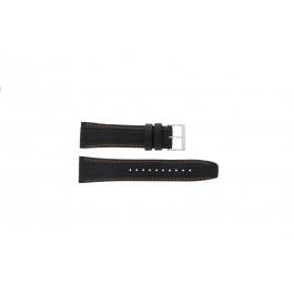 Cinturino per orologio Seiko 7T62-0HL0 Pelle Nero 24mm